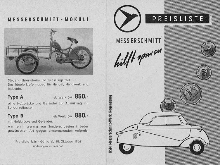 messerschmitt kabinenroller neu